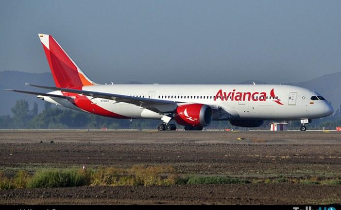 Avianca inició sus operaciones a Chile con Boeing 787 Dreamliner