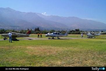 Nueve aeronaves participaron en los vuelos populares en Tobalaba, organizados por el Club Aéreo de Santiago