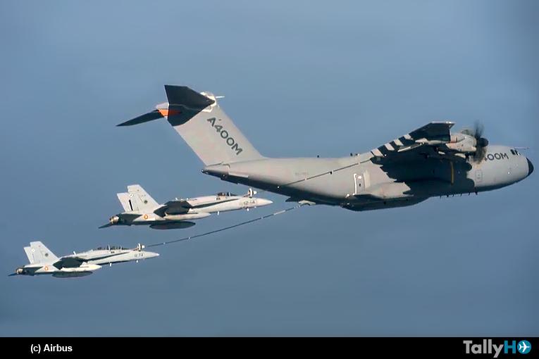 Exitosas pruebas del A-400M como avión de reabastecimiento