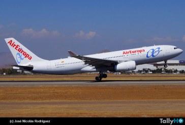 Última operación de Air Europa en Chile