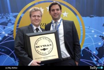 """SKY Airline, recibe premio a la """"Mejor Aerolínea Regional de Sudamérica"""""""