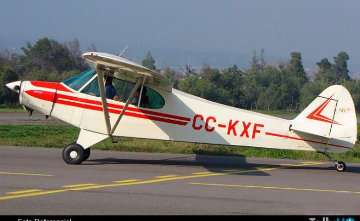 Piper PA-18 aterriza de emergencia en Aeródromo Tobalaba