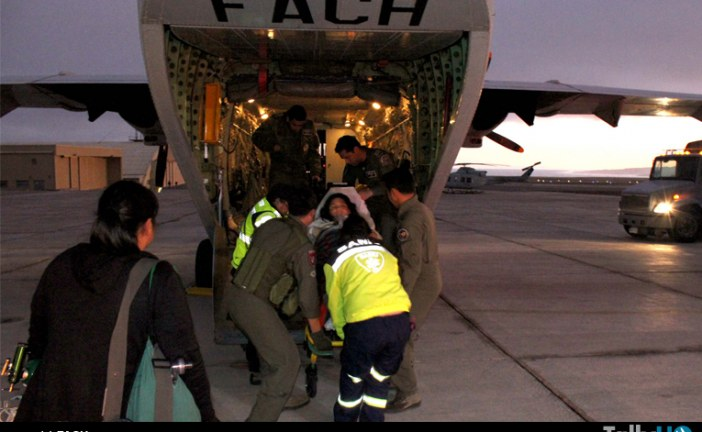Operaciones aéreas de la FACH, por temporal  en  zona norte