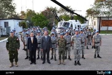 Contingente del Grupo de Helicópteros XXII en Haití recibió la Medalla de la MINUSTAH