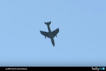 Se estrella Hawker Hunter, durante un Show Aéreo en Shoreham Reino Unido