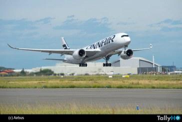 El primer A350 XWB de Finnair realiza su vuelo inaugural