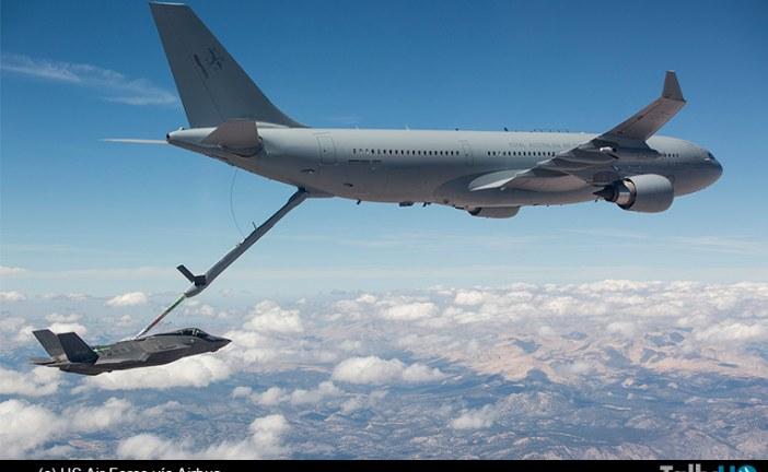 Exitoso reabastecimiento desde Airbus A330 MRTT de la Royal Australian Air Force a un F-35A