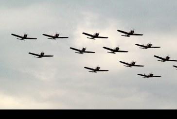 Componente aéreo Preparatoria Parada Militar 2015