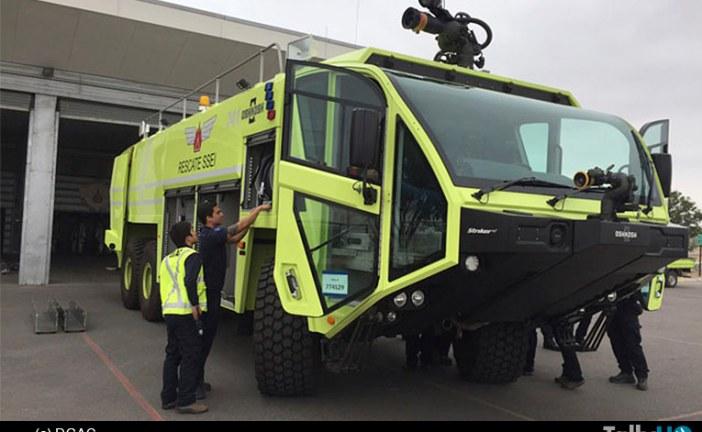 Aeródromos Desierto de Atacama y El Loa, reciben modernos carros SSEI
