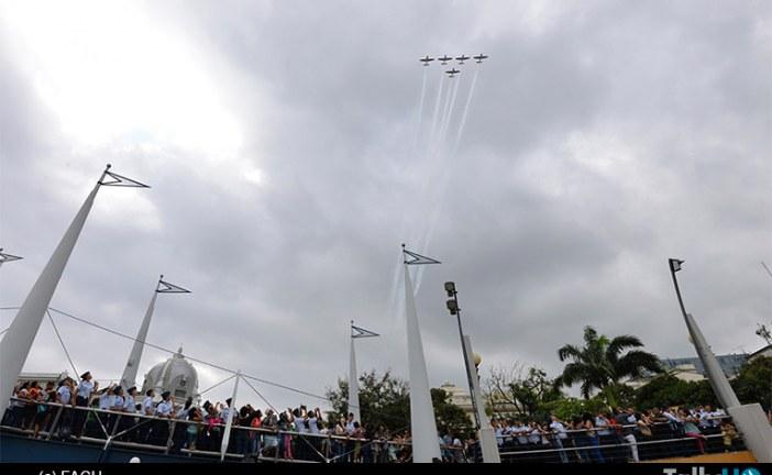 Espectacular gira de la Escuadrilla Halcones de la FACH, en Ecuador