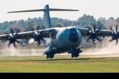 El A400M completa con éxito pruebas de certificación en pistas de pasto