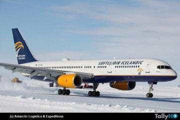 Boeing 757 comercial aterrizó por primera vez en la Antártica