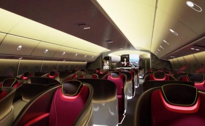 Novedosa propuesta de cabinafuturista para avión de pasajeros de Boeing