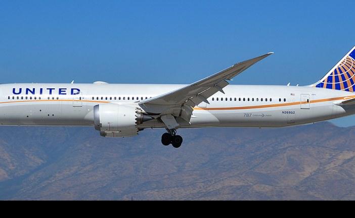 United inició operaciones con el 787-9 Dreamliner en Chile