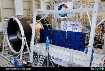 Probado con éxito el conjunto de paneles solares de la cápsula Orion