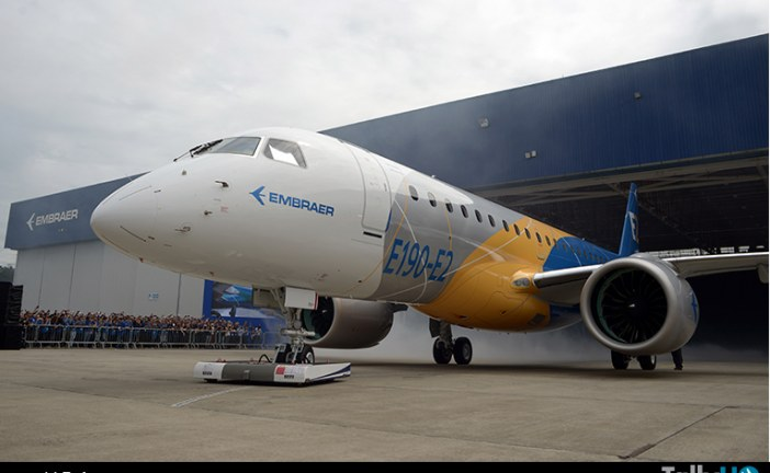 Embraer presentó el primer Jet E2 de pasajeros