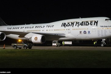 "Todo listo para la gira ""The Book of Souls"" de Iron Maiden con el Ed Force One"