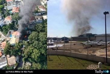 Avión Comp Air 9 se estrella contra casa en Sao Paulo, Brasil