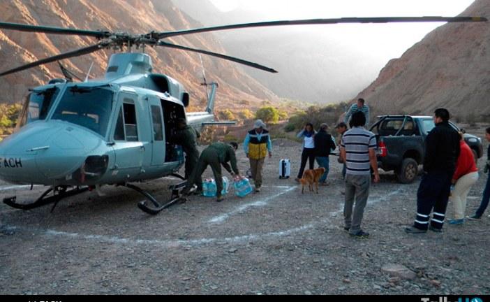 1a Brigada Aérea continúa operando en ayuda a la Región de Tarapacá