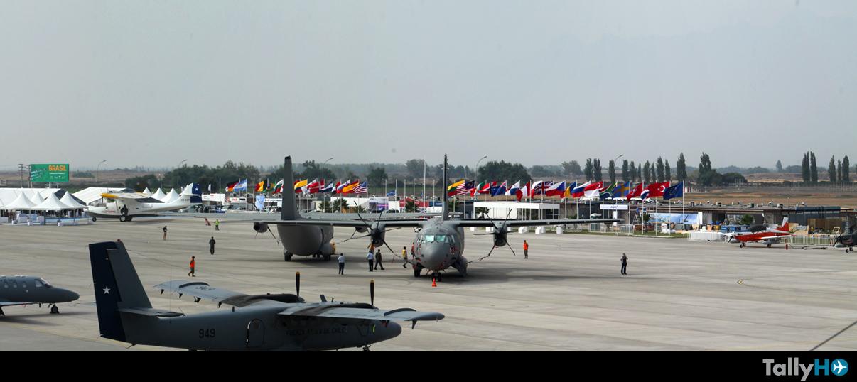 Domingo de llegada de las aeronaves a la FIDAE 2016