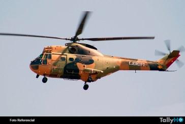 Se accidenta helicóptero Puma del Ejército de Chile en Portillo