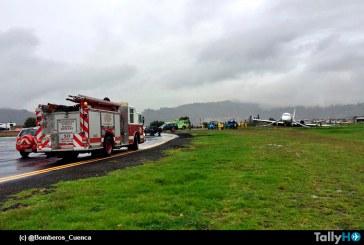 Avión de TAME, se despistó hoy en aeropuerto de Cuenca