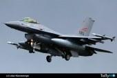 Avión F-16 de Noruega dispara por error a torre de vigilancia