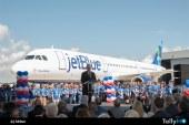 Primer avión producido en planta de Airbus en EE.UU. fue entregado a JetBlue
