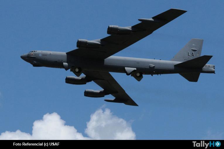 Avión B-52H Stratofortress se estrelló en Guam