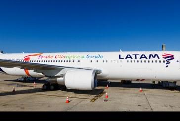 LATAM Airlines transportará  la llama olímpica desde Suiza a Brasil
