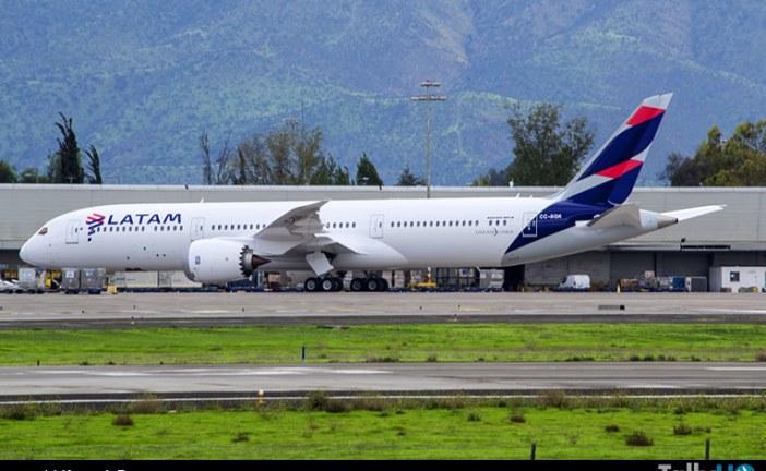 Arribó a Chile el primer Boeing 787-9 de LATAM
