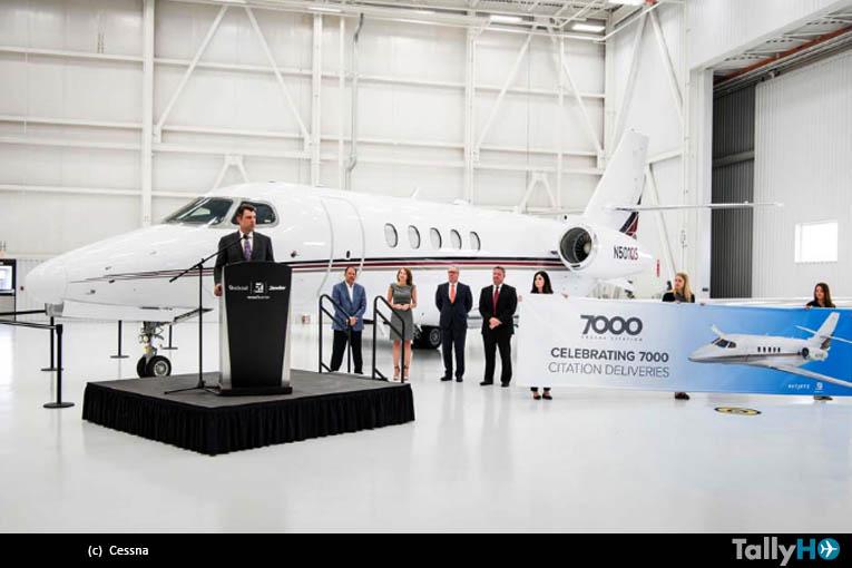 Cessna entregó el jet Citation 7.000, a la compañía NetJets