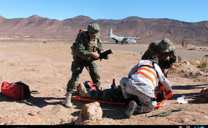 Fach realizó ejercicio de simulación de accidente aéreo en Arica