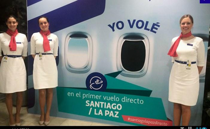 LATAM abrió nuevo vuelo directo Santiago – La Paz