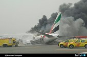 Avión de Emirates se accidenta en Aeropuerto Internacional de Dubai