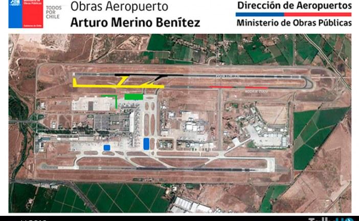 Autoridades aseguraron la operatividad del Aeropuerto de Santiago durante las obras de ampliación