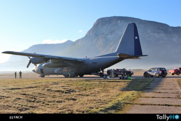 FACH realizó operativo en apoyo de vecinos de Villa O'Higgins en la Región de Aysén