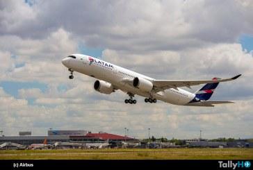 Primer vuelo del A350XWB con colores de LATAM en Toulouse