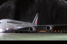 Primer vuelo comercial del Airbus A380 de Air France a Rio de Janeiro