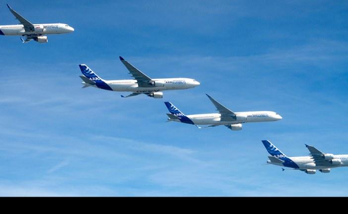 Familia Airbus realizó histórico vuelo en formación