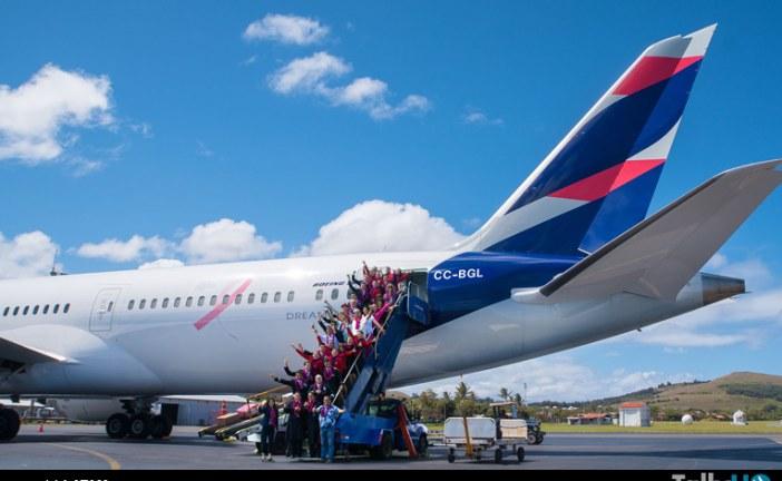 Campaña Mundial del Cáncer de Mama aterriza por primera vez en Isla de Pascua