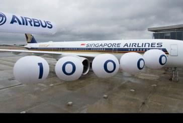Airbus celebró la entrega del avión número 10.000