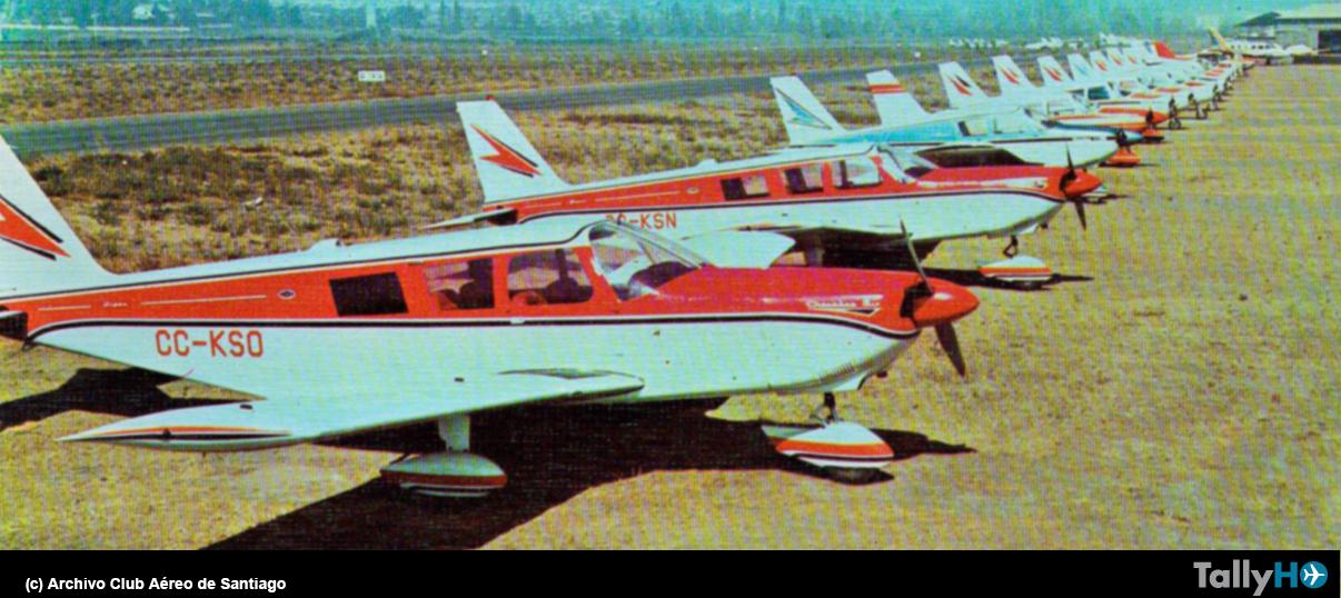 50 años de la llegada de los Piper Cherokee al Club Aéreo de Santiago