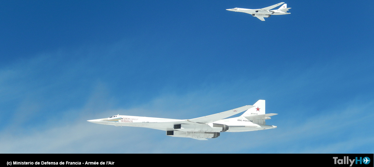 Nueva incursión de bombarderos rusos Tu-160 en Europa