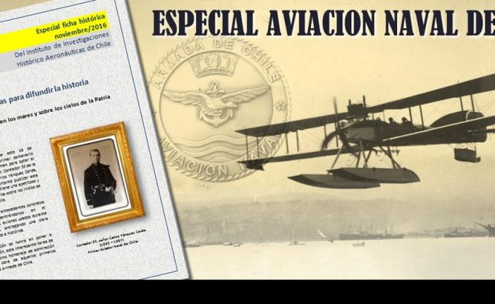 Instituto de Investigaciones Histórico Aeronáuticas pone a disposición ficha especial Aviación Naval de Chile