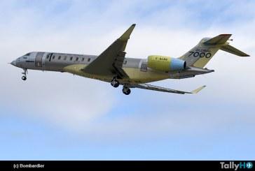 Bombardier Global 7000 completa exitosamente su primer vuelo