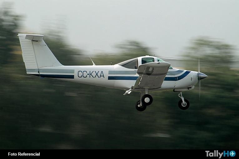 Se accidenta aeronave Piper Tomahawk en Peñalolén
