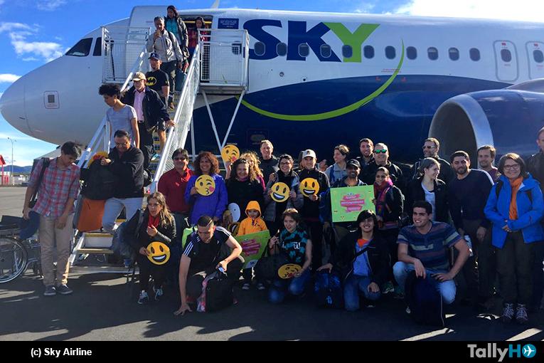 SKY inauguró con éxito primer vuelo a Puerto Natales