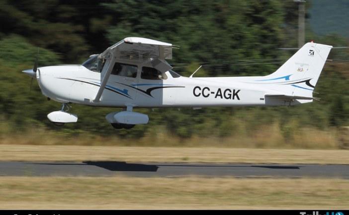 Se accidenta avión Cessna 172 en Villarrica falleciendo dos personas