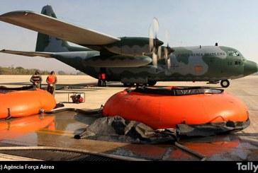 Arribaron a Chile dos C-130 de la Fuerza Aérea de Brasil de apoyo para combatir incendios